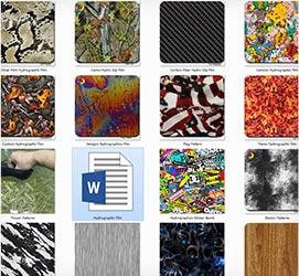 pattern catalog from China hydro dipping machine water transfer printing filmwholesaler