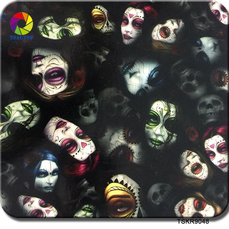 TSKR9048(0.5M) Skull Film Pattern