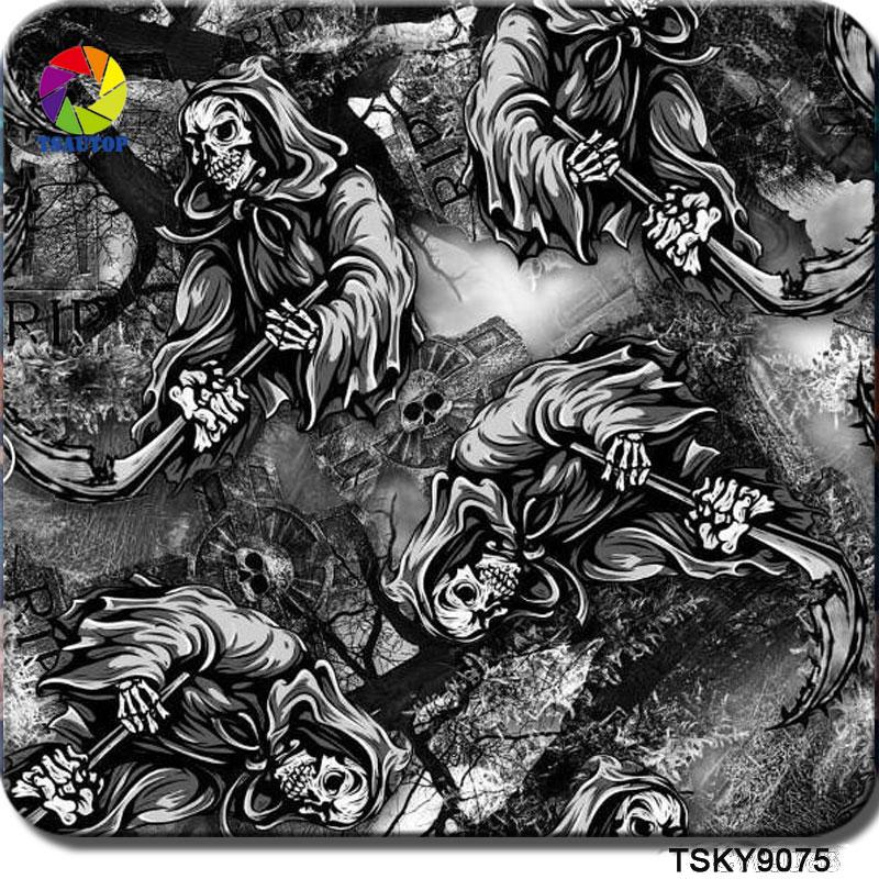 TSKY9075 Skull Water Transfer Printing Film