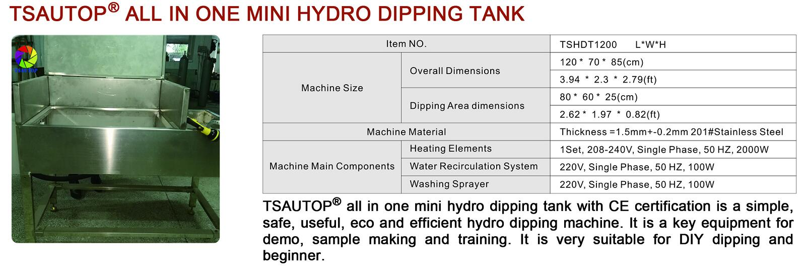 MINI DIY HYDRO DIPPING TANK