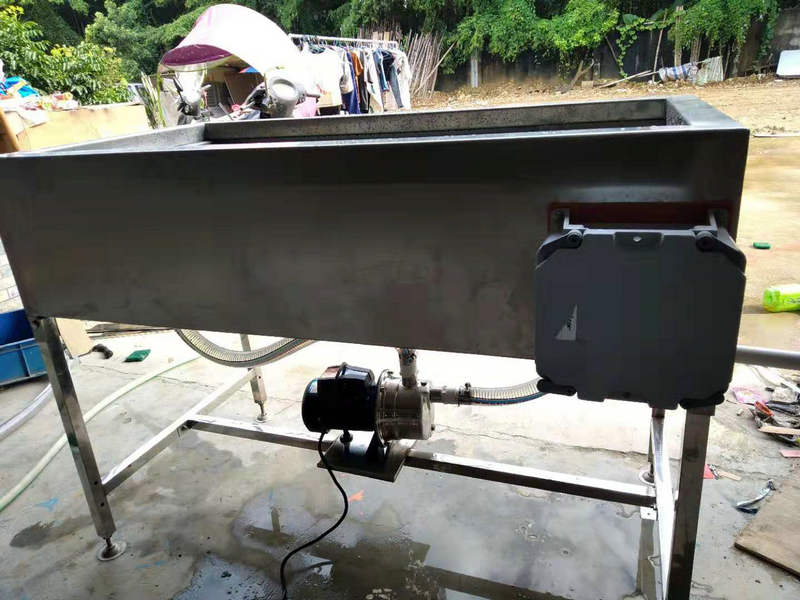 bottom-mounted water pump hydrodip tank