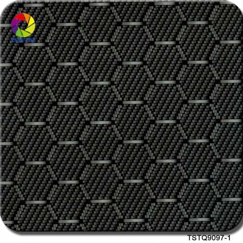 hexagon black carbon fiber