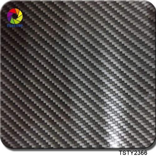 Silver dark grey Carbon Fiber