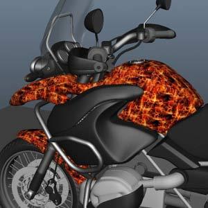 hydro dip motorcycle