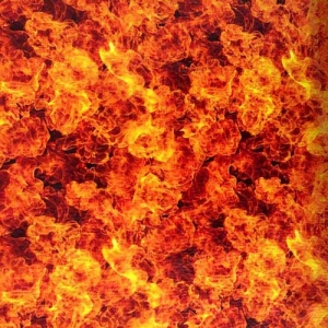 Flame Hydrographic Film