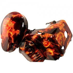 skull and flame hydrographic dip film 8073