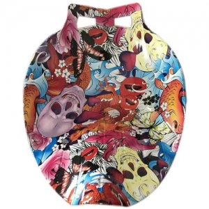skull hydrographic film dipped on items