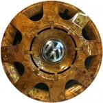 wood grain hydro dip film on car rim