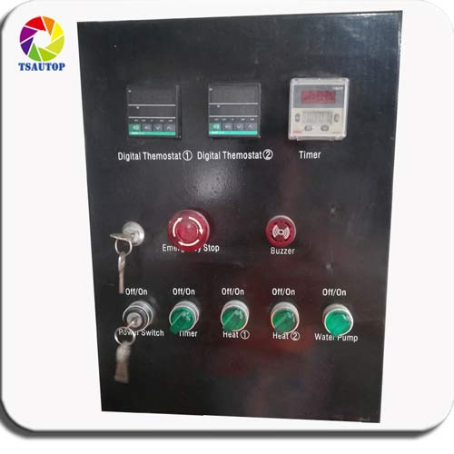 control panel for samll hydro dip tank