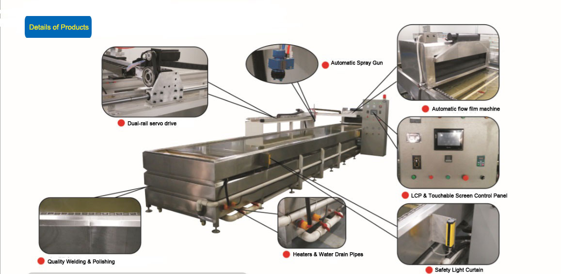 automatical hydro dipping production line flowing film machine