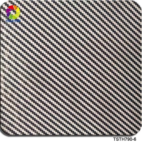 black and transparent Carbon fiber hydrographic film TSTH790-6