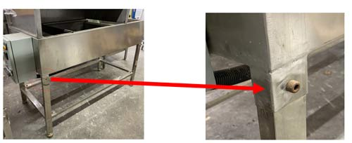 201 stainless steel dip tank with four pcs removable feet