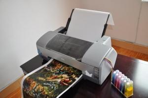 INKJET PRINTER FOR BLANK HYDROGRAPHICS FILM